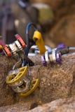 kolorowe wspinaczkowa narzędzi połowowych Obrazy Royalty Free