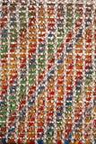 kolorowe wzór tkane Obrazy Royalty Free