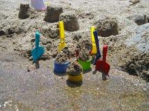 kolorowe zabawek plażowych Obrazy Stock