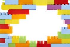 Kolorowe zabawkarskie budów cegły Zdjęcie Royalty Free