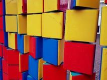 kolorowe zbudować bloków Zdjęcie Royalty Free