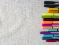 kolorowe znaczników zdjęcie stock