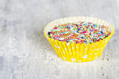 kolorowe zraszacz słodycze Obrazy Stock