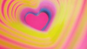 Kolorowego bicia tęczy kierowa wiosna Walentynki ` s dnia pojęcie Różowy serce ramy zwolnione tempo Lgbt glbt znak ilustracja wektor