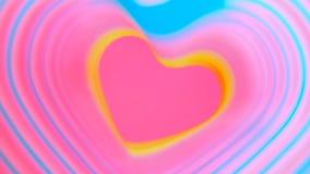 Kolorowego bicia tęczy kierowa wiosna Walentynki ` s dnia pojęcie Różowy serce ramy zwolnione tempo Lgbt glbt znak ilustracji