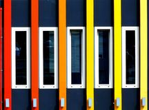 Kolorowego budynku Częściowa elewacja fotografia royalty free