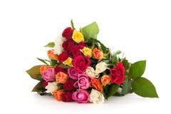 Kolorowego bukieta mieszane róże Zdjęcie Stock
