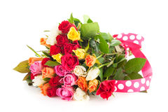 Kolorowego bukieta mieszane róże Fotografia Stock