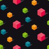Kolorowego conncept geomerty bezszwowy wzór Obrazy Royalty Free