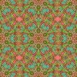 Kolorowego doodle kalejdoskopu bezszwowy wzór Zdjęcie Royalty Free