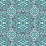 Kolorowego doodle kalejdoskopu bezszwowy wzór Obraz Stock