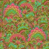Kolorowego doodle ornamentu bezszwowy wzór Zdjęcia Royalty Free