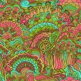 Kolorowego doodle ornamentu bezszwowy wzór Obrazy Stock