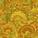 Kolorowego doodle ornamentu bezszwowy wzór Fotografia Royalty Free