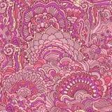Kolorowego doodle ornamentu bezszwowy wzór Zdjęcie Royalty Free