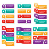 Kolorowego etykietki Infographic elementów prezentaci szablonu płaski projekt ustawia dla broszurki ulotki ulotki marketingu Obraz Royalty Free