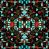 Kolorowego Geometrycznego kolażu Bezszwowy wzór Zdjęcie Stock