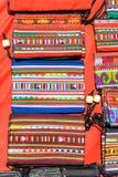 Kolorowego graficznego wzgórza plemienia ręcznie robiony torba Obrazy Royalty Free