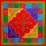 Kolorowego indianina stylu Świąteczny Dekoracyjny tło Obrazy Stock