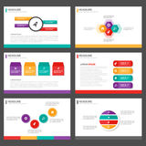 Kolorowego Infographic elementów prezentaci szablonu płaski projekt ustawia dla broszurki ulotki ulotki marketingu Zdjęcie Royalty Free