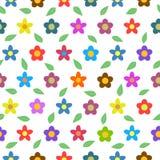 Kolorowego kwiatu Bezszwowy Wektorowy tło Zdjęcie Stock
