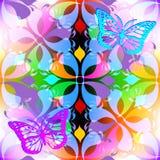 Kolorowego kwiecistego rozjarzonego wiosny lata wektorowy bezszwowy wzór Zdjęcie Stock