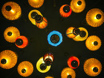 Kolorowego lampionu światła jaskrawa jarzeniowa Wewnętrzna dekoracja Obraz Stock