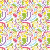 Kolorowego lata bezszwowy wzór z kwiecistą krzywą Zdjęcia Royalty Free