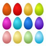 12 Kolorowego Malującego Wielkanocnego jajka na bielu, akcyjny wektorowy illustrat royalty ilustracja