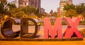 Kolorowego Mexico - miasto znak Obrazy Royalty Free