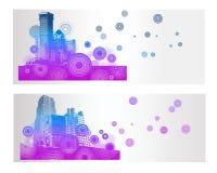 Kolorowy miasto sztandar Ilustracji