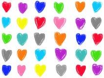 Kolorowego pastelowego doodle kształta kierowy rysunek odizolowywa na białym tle ilustracja wektor