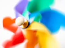 Kolorowego pinwheel przędzalniany ruch zdjęcia royalty free