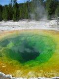 Kolorowego ranek chwały basenu gorąca wiosna Obraz Stock