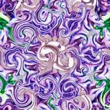 Kolorowego rocznika abstrakcjonistyczna tekstura w fiołkowym i błękitnym, skutka watercolour fractal ilustracji