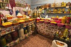 Kolorowego sklepowego sprzedawania kiszeni owoc i warzywo Zdjęcia Stock