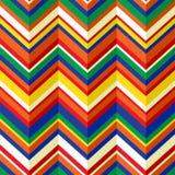 Kolorowego szewronu geometryczny bezszwowy wzór, wektor Zdjęcia Royalty Free
