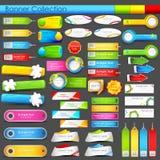 Kolorowego sztandaru olbrzymia kolekcja Zdjęcia Stock