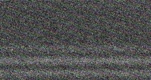 Kolorowego vhs usterki hałasu tła realistyczny migotanie, analogowy rocznika TV sygnał z złą interferencją, statyczny hałasu tło zbiory wideo