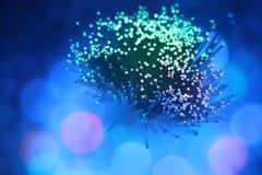 Kolorowego włókna sieci okulistyczny kabel zdjęcia royalty free