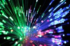 Kolorowego włókna sieci okulistyczny kabel fotografia stock