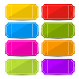 Kolorowego Wektorowego bileta Ustalona ilustracja Zdjęcie Stock