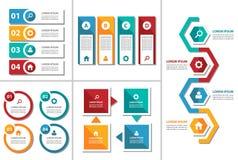Kolorowego wielocelowego broszurki ulotki ulotki strony internetowej szablonu płaski projekt Obrazy Stock