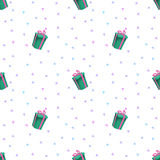 Kolorowego wszystkiego najlepszego z okazji urodzin Bezszwowy wzór Obrazy Stock