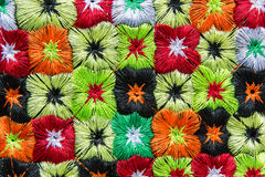 Kolorowego wzgórza plemienia tekstylna tkanina fotografia stock