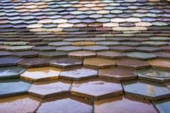 Kolorowego Zsolnay honeycomb dachowe płytki Zdjęcia Royalty Free