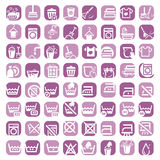Duże koloru cleaning ikony Zdjęcie Stock