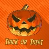 Kolorowej dźwigarki dyniowy uśmiech na lampasie BG dla Halloween Obrazy Royalty Free