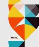Kolorowej geometrical sztuki współczesnej minimalny szablon Fotografia Stock