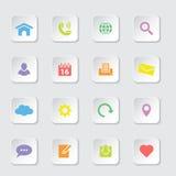kolorowej ikony ustalona sieć Obrazy Royalty Free